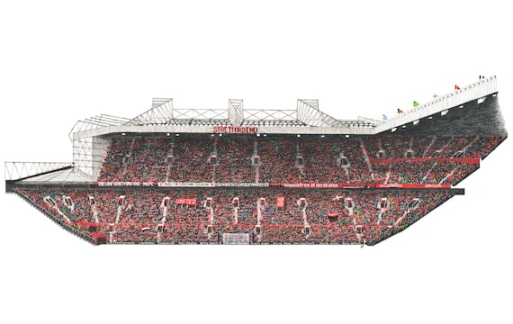 THE STRETFORD END, Old Trafford, Home of Manchester United