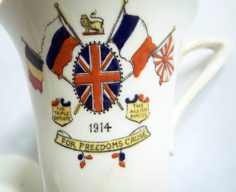 Sutherland Art China Ltd /'For Freedom/'s Cause/' Mug and Plate 1914