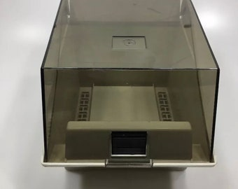 "EICHNER 5.25"" Floppy Diskette Disk File Holder Case Storage Box 5 1/4"""