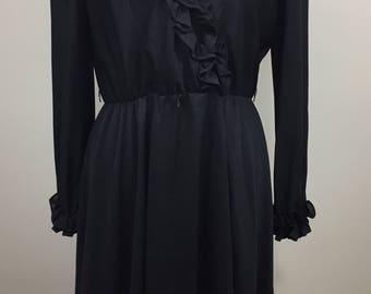 Lady Carol Of New Vintage Black Dress