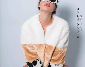 The '' BUMBLESWEET '' faux fur coat