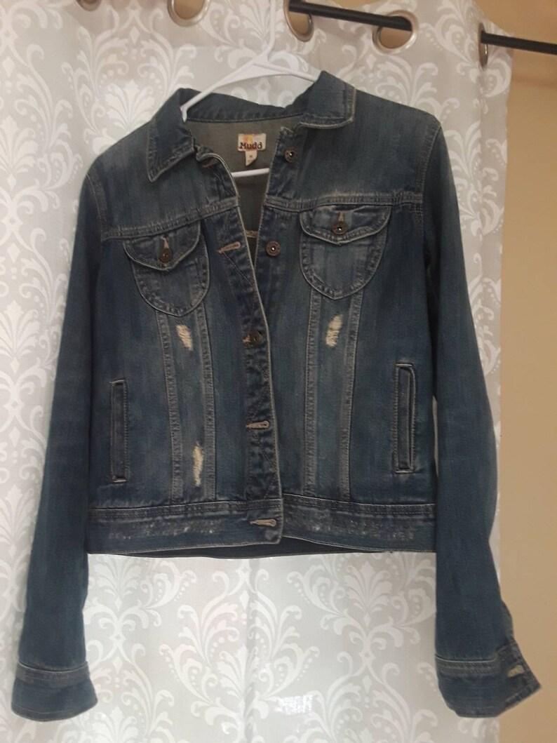 Bandana-back denim biker jacket, hand-embroidered denim jacket, bandana  denim coat, biker jacket, decorated denim jacket