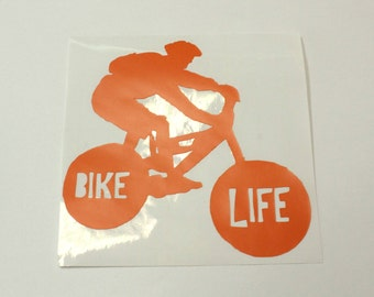 bike decal, cyclist bumper sticker, mountain bike decal, triathlete decal, biking sticker, cyclist decal
