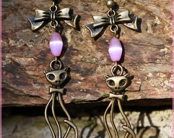 "Earrings ""Cat eye"""