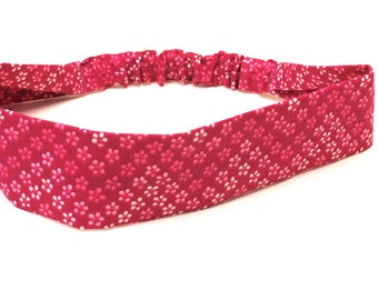 Pink Floral Women's Cotton Headband