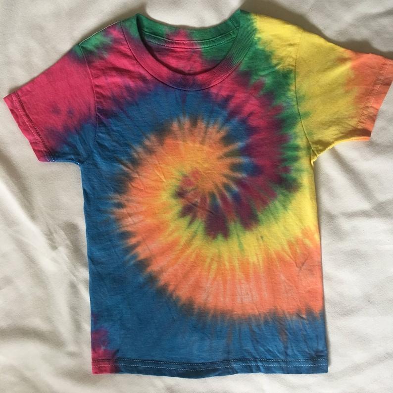e45c6609 Tie Dye Tshirt 2T/3T Rainbow swirl 60's fashion kids   Etsy