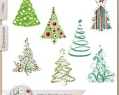 Glitter Christmas Trees, Transparent PNG  Digital Scrapbook | Clipart | Printable Designers Resources