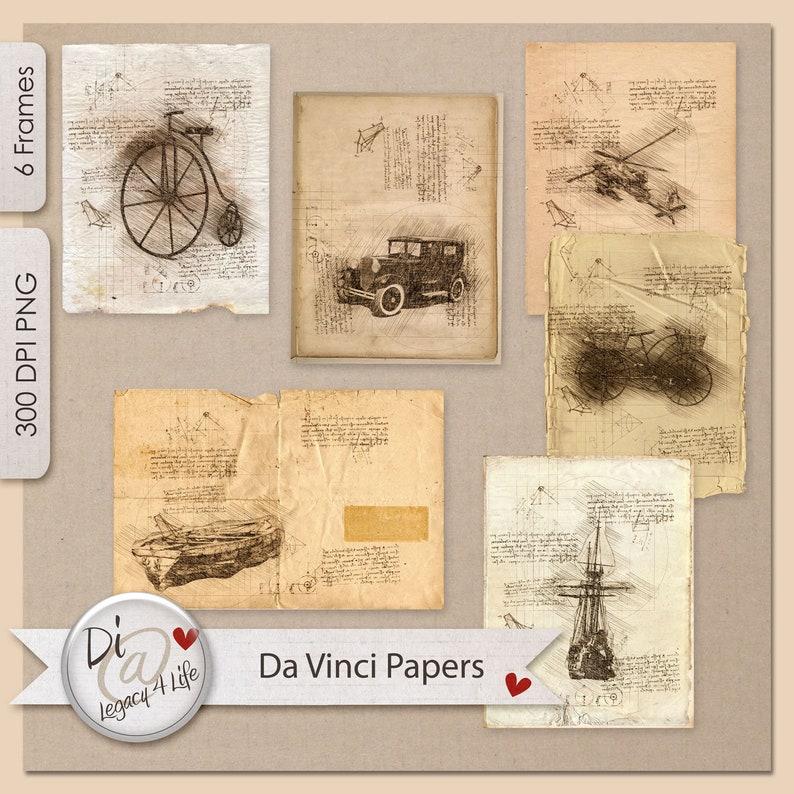 Da Vinci Digital Background Papers  Digital Papers image 0