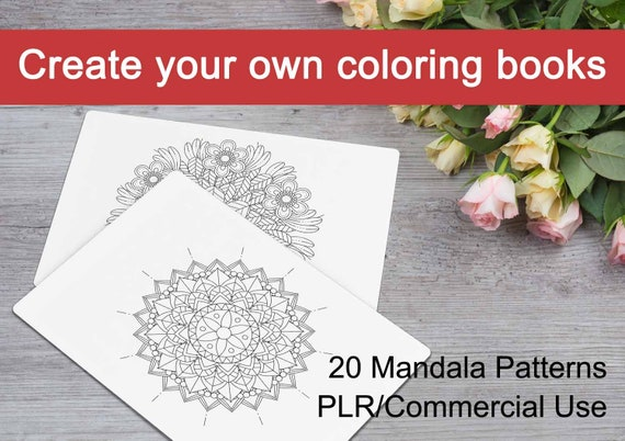 Mandala Patterns 03 Create Your Own Coloring Book 20 | Etsy