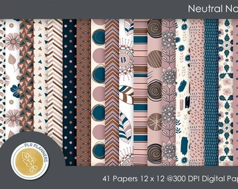 Digital Papers - Neutral Navy   Commercial Use   Scrap Books   Book Covers   Quick Pages