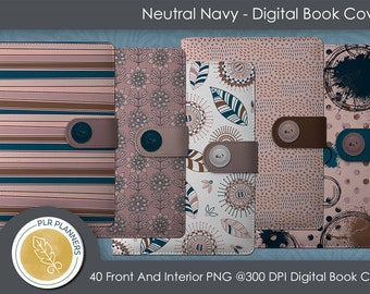 Digital Covers - Neutral Navy   Commercial Use   Planners   Journals   Book Covers  