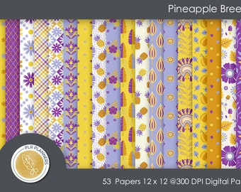 Digital Papers - Pineapple Breezer   Commercial Use   Scrap Books   Book Covers   Quick Pages