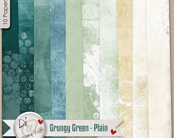 Digital Scrapbook Papers, Grungy Green Plain , Digital Papers, Variations of Green, Digital Scrapbook Papers