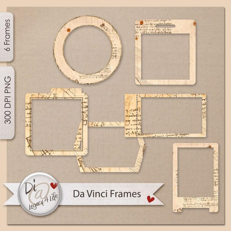Da Vinci Paper Frames  Clipart  Commercial Use  Photo image 0