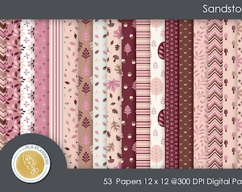 Digital Papers - Sandstorm   Commercial Use   Scrap Books   Book Covers   Quick Pages