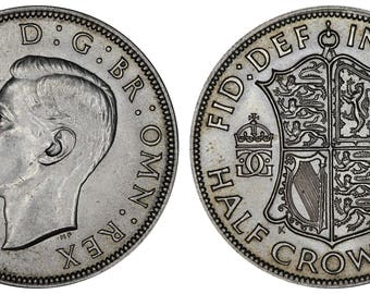 1946 George VI halfcrown coin of Great Britain