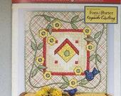 SALE Quilt Kit Beginner 39 s piecing 28 quot x28 quot , DIY Craft kit, Sew, piecing fabric, table runner block, quilter 39 s gift, summer birdhouse, garden