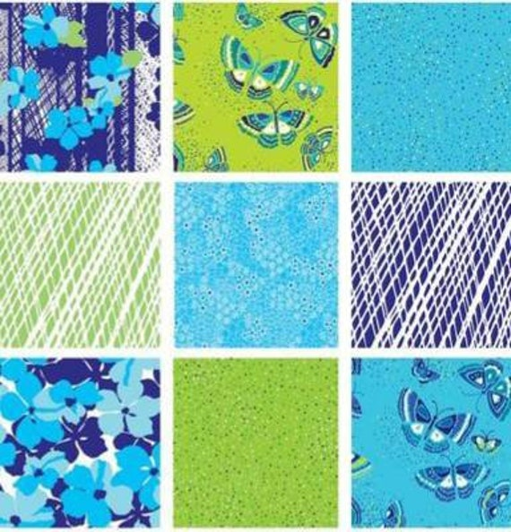 "Island Blossom Pinwheel for Benartex 40 2.5/"" Strips Jelly Roll Quilt Fabric"
