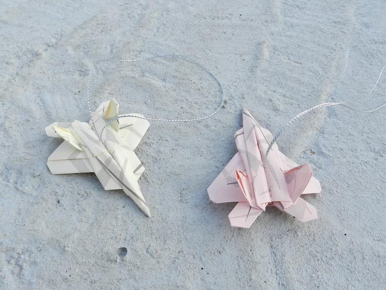 Ensemble De 2 Ornement Origami Voiture Tableau De Bord Tableau De Bord Inverse Miroir Suspendu Affichage Papier Avion Décoration Model0f22or006