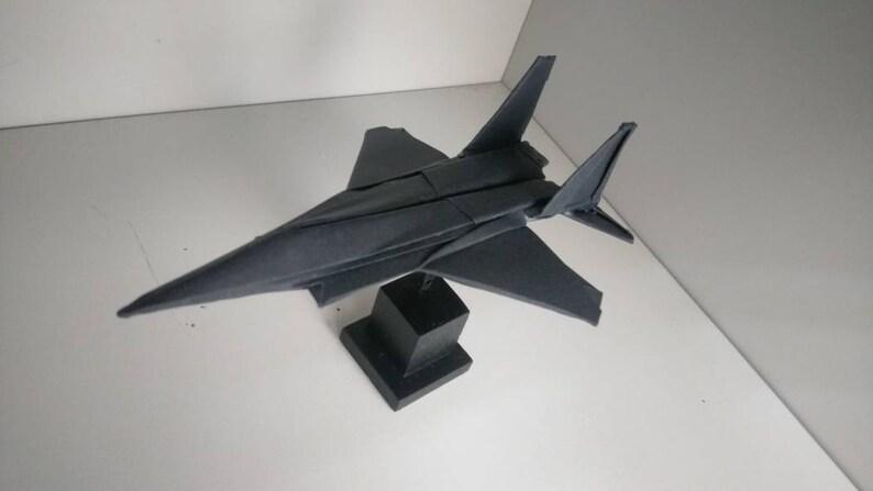 Avion En Papier Origami Noir Tableau De Bord Voiture Décoration Avec Présentoir Model0f15bb009