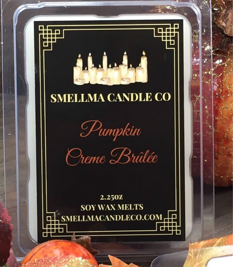 Soy Candle Melts Clamshell Melts Scented Soy Tart Wax Warmer Wax Melts Soy Wax Tart Pumpkin Creme Br\u00fbl\u00e9e Soy Wax Melts Soy Wax Melts