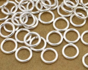 165 Bulk Silver Plated Jump Rings, 5mm - 19 Gauge open jump rings for jewelry making, round jumprings, cheap jump rings, metal jump rings