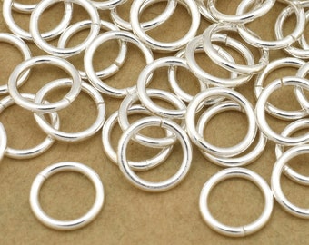 133 Silver jump rings, O rings for chain maille, 20 Gauge (AWG) - 6mm silver plated open round jumprings for chainmaille jewelry making BULK