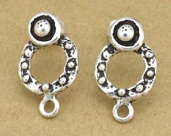 11mm Sterling Silver Ear studs for Earring making, earring findings, earring supplies, antique dangle earring parts, earring components