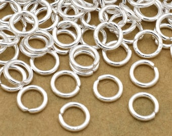 246 silver jump rings - 5mm silver plated open jump rings for jewelry making, chainmaille or chain mail jewelry links  20 Gauge (AWG)