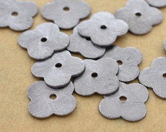 10mm - 20pc Brushed Black clove shape flat Spacer beads, Gunmetal plated spacer beads, flower shape beads for jewelry making