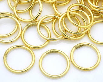 59 Gold closed jump rings for jewelry making O rings - Bulk Jumprings Links and Connectors - 19 Gauge - 10mm