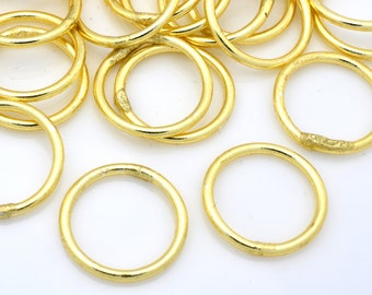 Gold jump rings, closed jumprings for jewelry making, Round Large Jump Rings, Bulk O rings Jewelry findings - 16 Gauge - 13mm -  26pcs