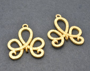 24mm Gold plated Celtic Knots Earring connector, Gold Plated Earring Component, earring parts, dangle earring making 1 set