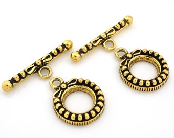 Bali Style antique gold plated Toggle Clasps for bracelets,necklace clasps, kumihimo jewelry supplies, gold locks and closures findings