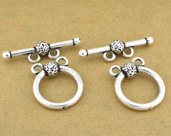 toggle clasps - 2 strand - antique silver plated - Multi strand closure for jewelry making, clasps for Bracelet, 2 loops clasps for necklace