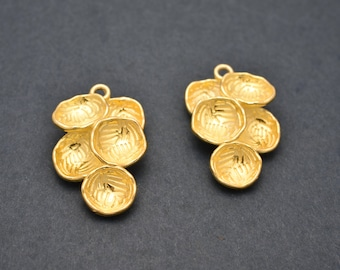 27mm Gold Earring connector parts, Gold Plated Earring Component, earring parts, dangle earring making 1 set