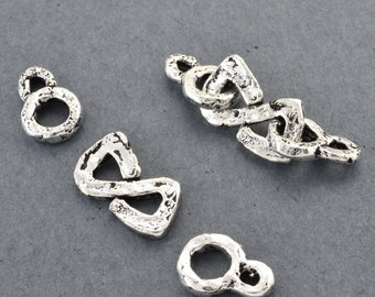 silver S clasps for bracelets, silver plated s clasps for jewelry making, bronze S clasps, antique silver s hooks