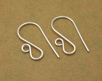 30pc silver plated ear wires, 23mm Long