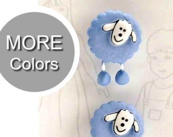 Belle Buttons By Dritz Kids Children Sheep Buttons 18mm ( 11/16 inches) Pet Zoo Animals Button |  Item BB494 or BB522  *B3