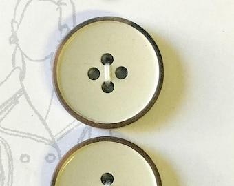 34mm natural shell buttons B1 Shell Buttons