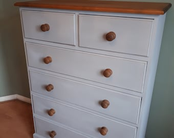 SOLD SOLD SOLD Tall solid pine chest of drawers