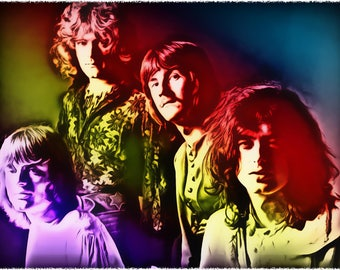 Neon Zeppelin, Celebrity Art Prints, All profits donated to TheirForeverHome.org