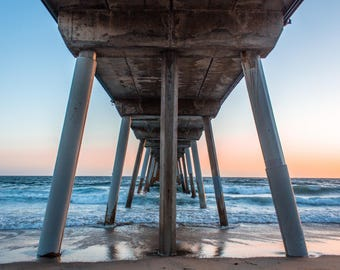 The Lonely Pier, Ocean Photography, All profits donated to TheirForeverHome.org