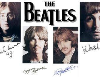 Autographed Beatles , Celebrity Art Prints, All profits donated to TheirForeverHome.org