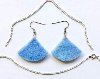 Roundangle Felted Earrings