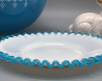 Punctual Fenton Egg Blue Evident Effect Pottery & Glass