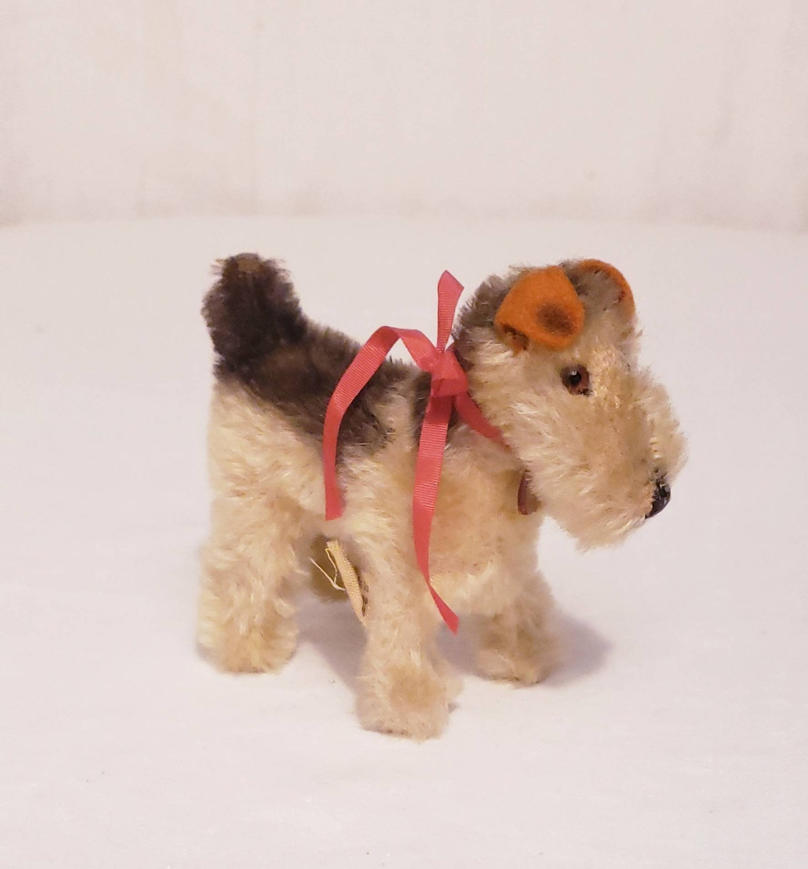 Vintage 1960's Steiff Airedale Terrier Dog named Terry