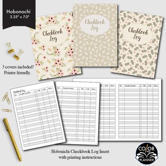 hobonichi checkbook checkbook register finance and budget etsy