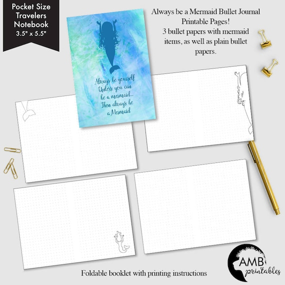 photo regarding Bullet Journal Printable Pages referred to as Pocket dimension Bullet Magazine printable, Bullet printable internet pages, Dot grid site, Blank bullet web pages, Mermaid concept bullet webpages - AMBP-215.11