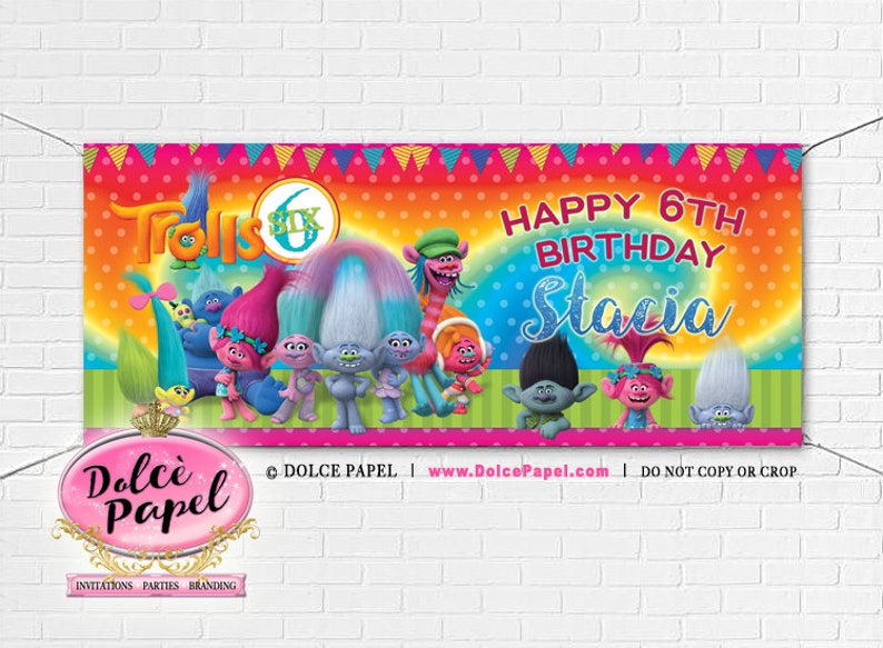542e7916d0fa1a TROLLE film księżniczka Poppy most i król tęcza urodziny Party   Etsy